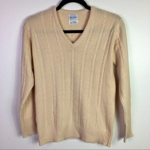 Brooks Brothers 100% Cashmere Cable Knit Sweater